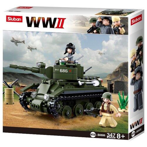 Купить Конструктор SLUBAN WW2 M38-B0686 Танк, Конструкторы