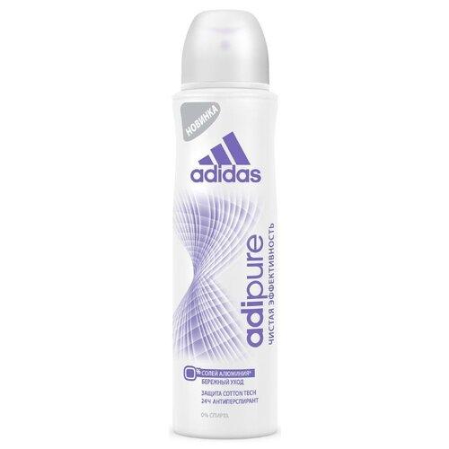Adidas дезодорант-антиперспирант, спрей, Adipure, 150 мл adidas дезодорант антиперспирант спрей cool