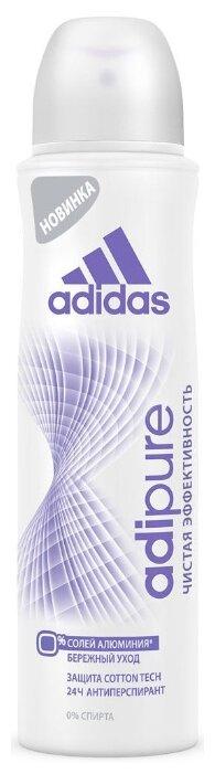 Adidas Adipure дезодорант-антиперспирант, спрей, чистая эффективность