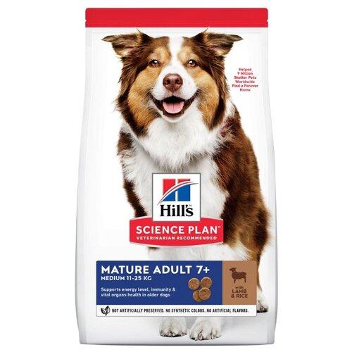 Сухой корм для пожилых собак Hill's Science Plan для здоровья кожи и шерсти, ягненок с рисом 3 кг (для средних пород)