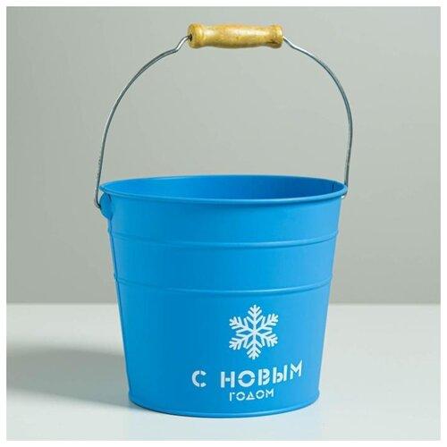 Фото - Кашпо Дарите счастье Счастья 18 см, синий бумага упаковочная дарите счастье момент счастья 0 68 × 10 м сиреневый