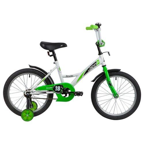 цена на Детский велосипед Novatrack Strike 18 (2020) белый/зеленый (требует финальной сборки)