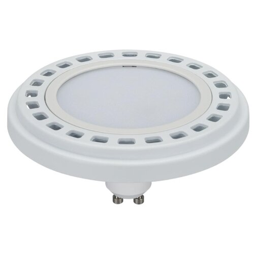 цена на Лампа светодиодная Arlight AR111-UNIT-GU10-15W-DIM Warm3000 (WH, 120 deg, 230V), GU10, 15Вт