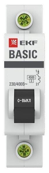 Автоматический выключатель EKF ВА 47-29 1P (C) 4,5kA