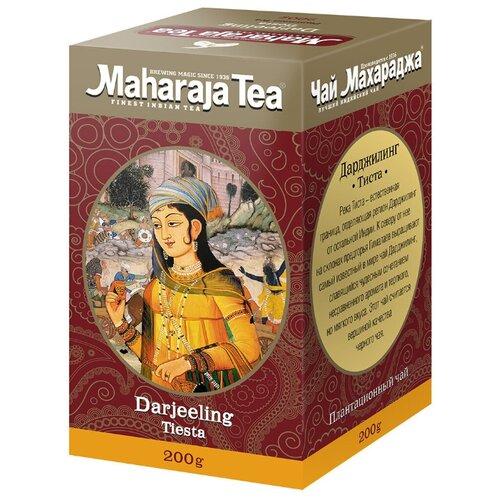 Чай чёрный Maharaja Tea Darjeeling Tiesta индийский байховый, 200 г maharaja tea магури билл чай черный байховый 100 г