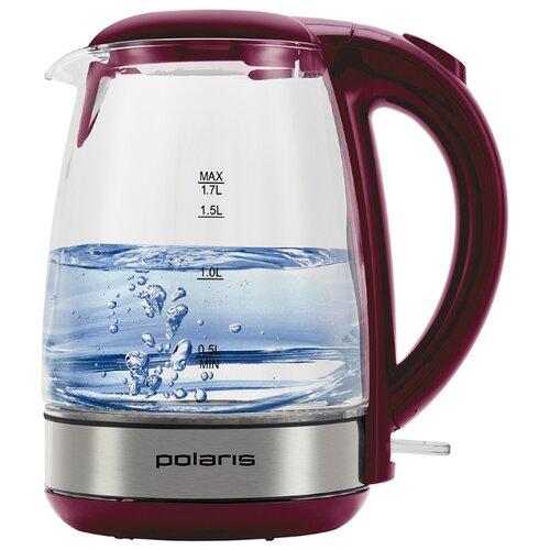 Чайник Polaris PWK 1755CGL , серебристый/красный
