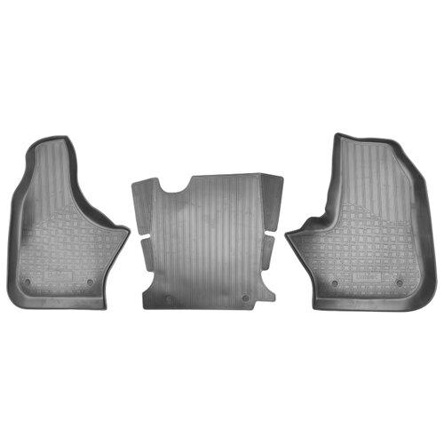 Комплект ковриков NorPlast NPA01-C23-205 3 шт. черный