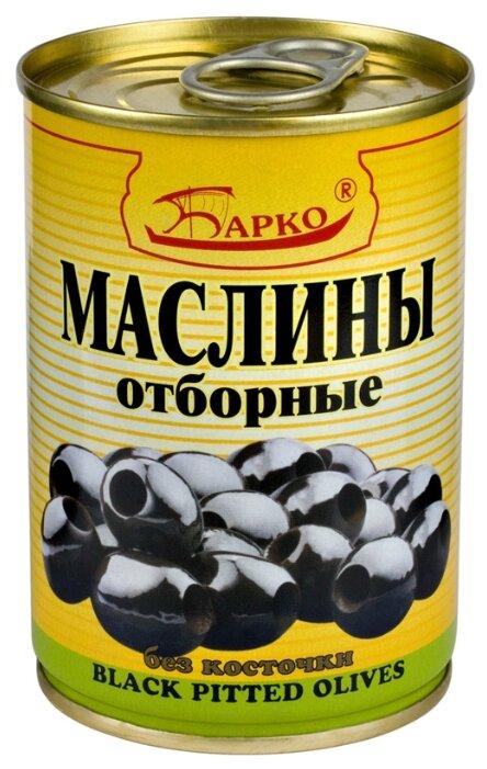 БАРКО Маслины без косточки отборные, жестяная банка 280 г