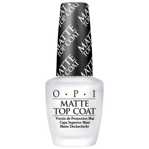 OPI верхнее покрытие Matte Top Coat 15 мл прозрачный opi верхнее покрытие top coat 15 мл бесцветный