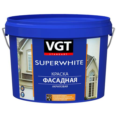 Фото - Краска акриловая VGT ВД-АК-1180 фасадная Супербелая влагостойкая матовая бесцветный 7 кг краска акриловая alpina долговечная фасадная влагостойкая матовая бесцветный 2 35 л