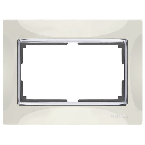 Рамка 1п Werkel WL03-Frame-01-DBL, слоновая кость рамка 1п werkel wl01 frame 01 dbl белый