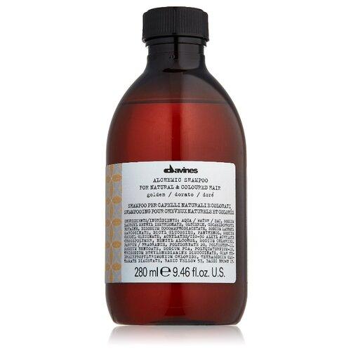 Купить Davines шампунь Алхимик для натуральных и окрашенных волос, оттенок золото, 280 мл