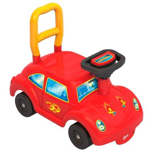 Каталка-толокар Нордпласт Авто GO! (431012/431012-1) со звуковыми эффектами красный