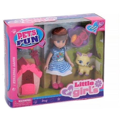 Кукла Shantou Gepai с питомцем, 1667128 кукла shantou gepai с коляской cs5832ha