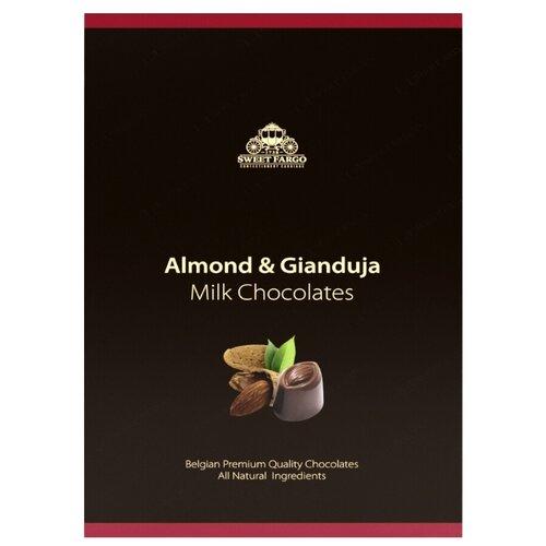 Набор конфет Sweet Fargo Дробленый миндаль & пьемонтский орех в молочном шоколаде 120 г черный