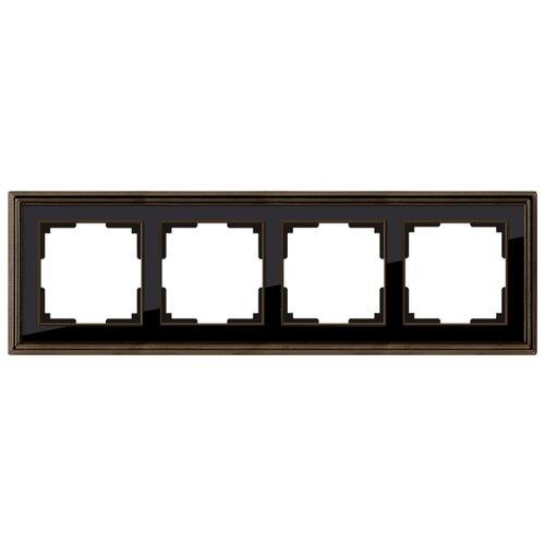 Фото - Рамка 4п WerkelWL17-Frame-04, бронза/чёрный рамка werkel antik бронза wl07 frame 02