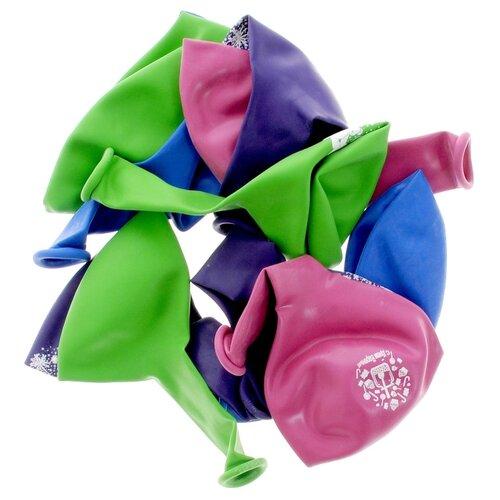 Набор воздушных шаров Action! С Днем Рождения! (10 шт.) зеленый/розовый/синий