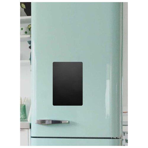 Доска на холодильник меловая Doski4you Малая (29х20 см) черная магнитно грифельная доска на холодильник время обеда черная