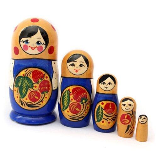 Матрешка MILAND Хохломская, 5 кукол
