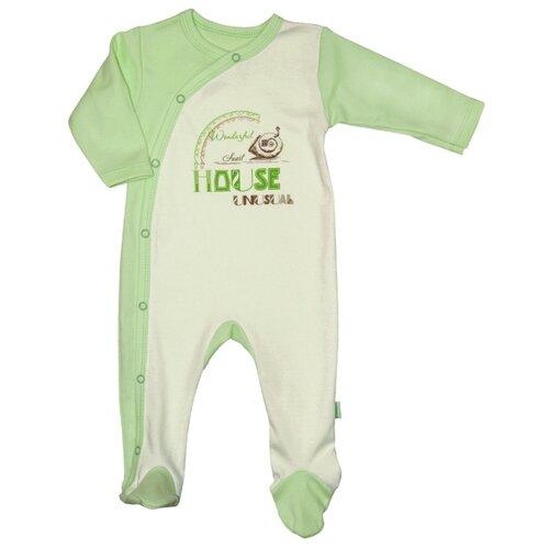 Комбинезон СовёнокЯ размер 48-74, зеленый комбинезон для мальчика совенокя совята цвет зеленый 2 484 размер 74