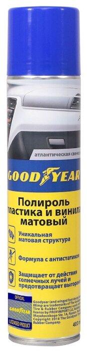 GOODYEAR Полироль пластика для салона автомобиля Атлантическая свежесть GY000704, 0.4 л