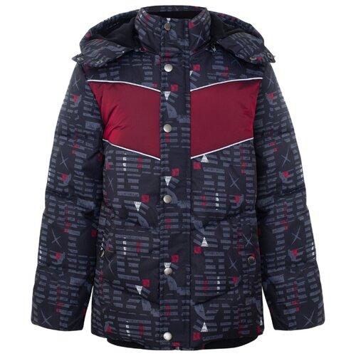 Купить Куртка Смена Z085 размер 164/84, черный/красный, Куртки и пуховики