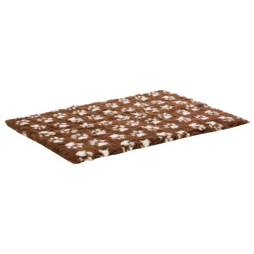 Коврик для собак и кошек ProFleece меховой с лапками 160х100 см шоколад/крем