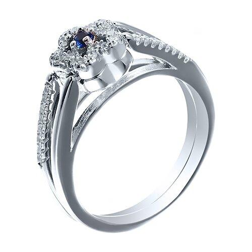 Фото - JV Кольцо с фианитами из серебра CAR2926-KO-004-WG, размер 16 jv кольцо с фианитами из серебра car2926 ko 004 wg размер 16