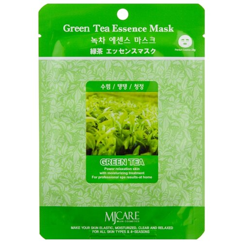 MIJIN Cosmetics тканевая маска Green Tea Essence с экстрактом зеленого чая, 23 г sun smile тканевая маска pure smile green tea essence с экстрактом зеленого чая 23 мл