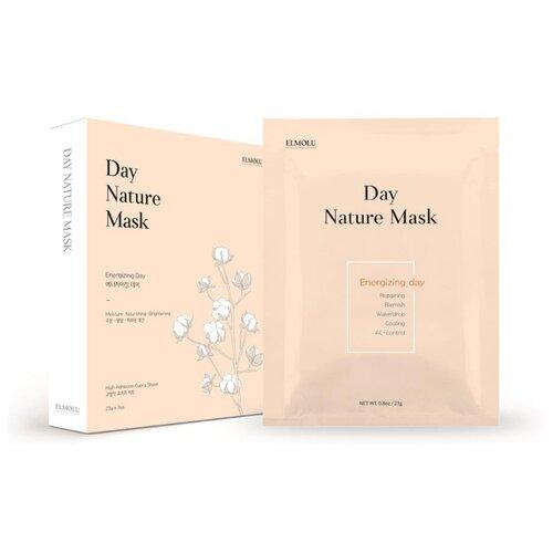 ELMOLU тканевая маска наполняющая энергией Day Nature Mask Energizing day, 23 г, 7 шт. elmolu тканевая маска наполняющая энергией day nature mask energizing day 23 г 7 шт