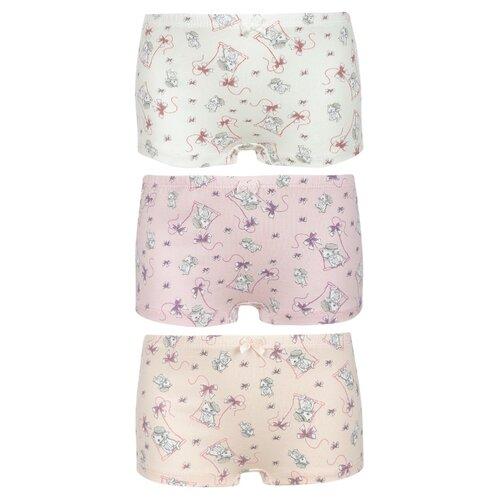 Купить Трусики BAYKAR 3 шт., размер 134/140, белый/персиковый/розовый, Белье и купальники