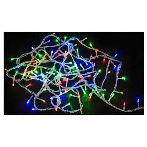 Гирлянда Волшебная страна нить LED100-5, 500 см, 100 ламп, разноцветный/прозрачный провод
