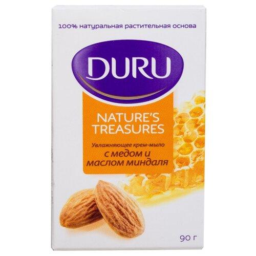 Крем-мыло кусковое DURU Nature's treasures Мёд и масло миндаля, 90 г мыло кусковое duru fresh sensations цветочное облако 150 г
