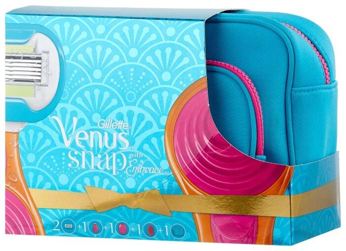 Venus Snap Embrace Набор Бритва компактная + 2 сменные кассеты + Косметичка и расческа