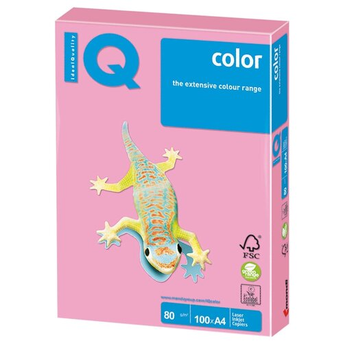 Фото - Бумага IQ Color А4 80 г/м² 100 лист. розовый фламинго OPI74 1 шт. бумага iq color а4 color 120 г м2 250 лист кораллово красный co44 1 шт
