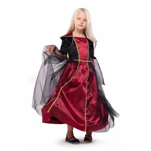 Купить Платье ВКостюме.ру Девочка вампир (1027649), бордовый, размер 128, Карнавальные костюмы