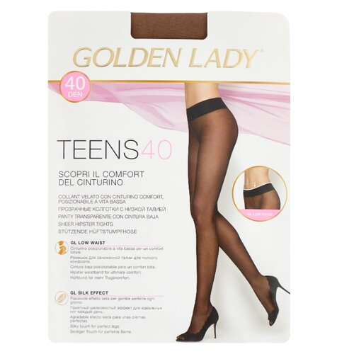 Колготки Golden Lady Teens Vita Bassa 40 den, размер 4-L, daino (бежевый) колготки golden lady vita 20 den размер 4 l daino бежевый