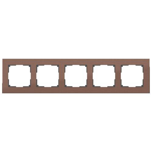 Рамка 5п Werkel WL11-Frame-05, коричневый алюминий рамка werkel aluminium алюминий коричневый wl11 frame 05