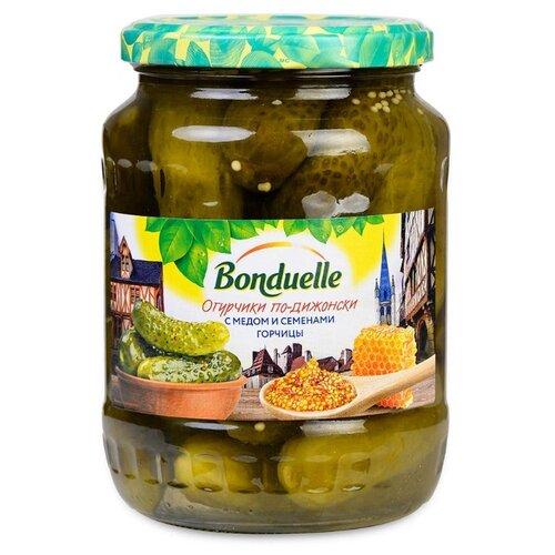 Огурцы по-дижонски с медом и семенами горчицы Bonduelle стеклянная банка 680 г зеленый горошек bonduelle classique нежный стеклянная банка 530 г