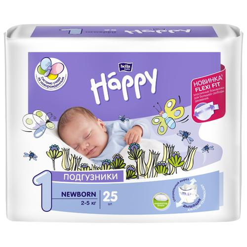 цены Bella Baby happy подгузники start 1 (2-5 кг) 25 шт.