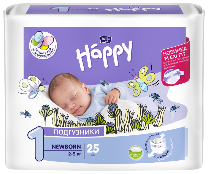 Bella Baby happy подгузники start 1
