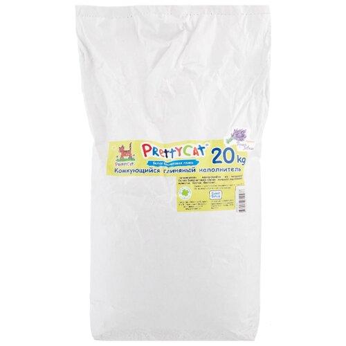 Комкующийся наполнитель PrettyCat Супер Белый с ароматом горной лаванды 20 кг