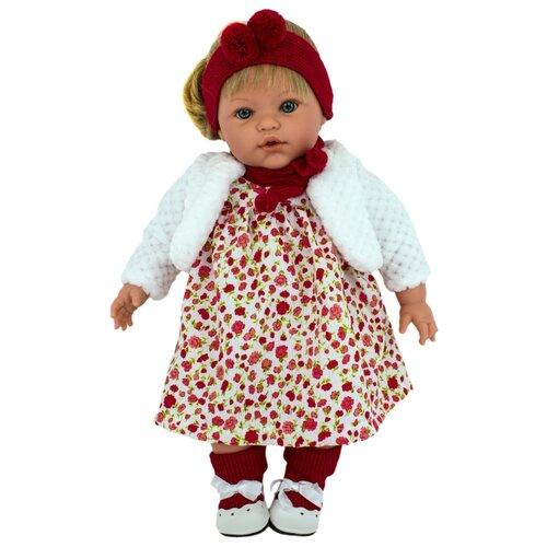 Интерактивная кукла Lamagik Сьюзи в белом полушубке с красным шарфом, 47 см, 47012A