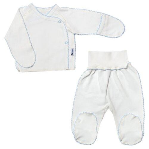 Купить Комплект одежды Клякса размер 20-62, белый/голубой, Комплекты