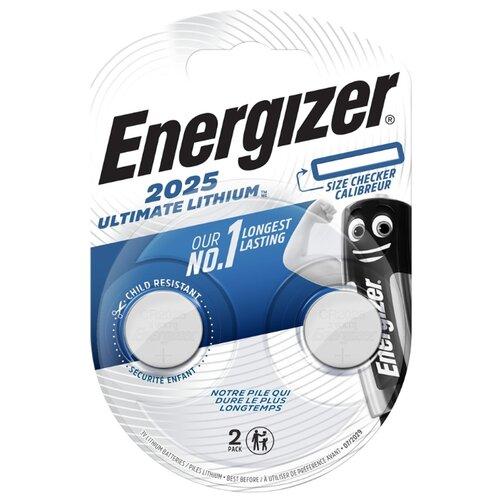 Батарейка Energizer Ultimate Lithium CR2025, 2 шт. батарейка energizer ultimate lithium cr2016 2 шт