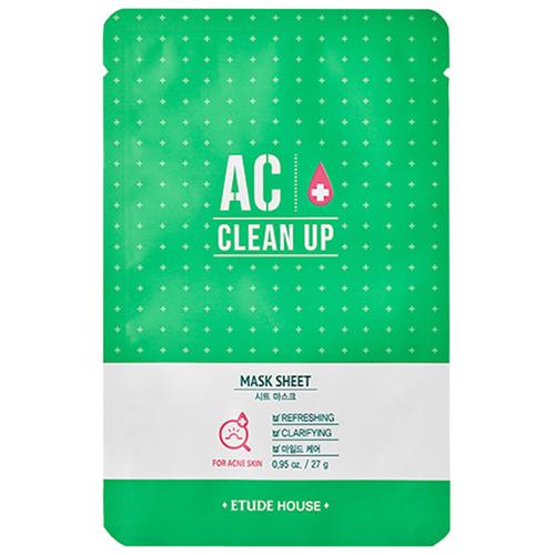 Etude House Очищающая маска для проблемной кожи AC Clean Up Mask Sheet, 27 г цена 2017
