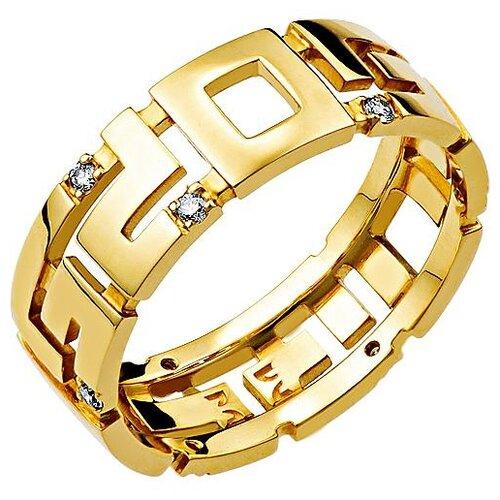 Эстет Кольцо с 9 бриллиантами из жёлтого золота 01К636393, размер 19.5