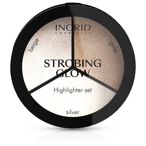Ingrid Cosmetics Палетка для стробинга Strobing Glow beige/gold/silver