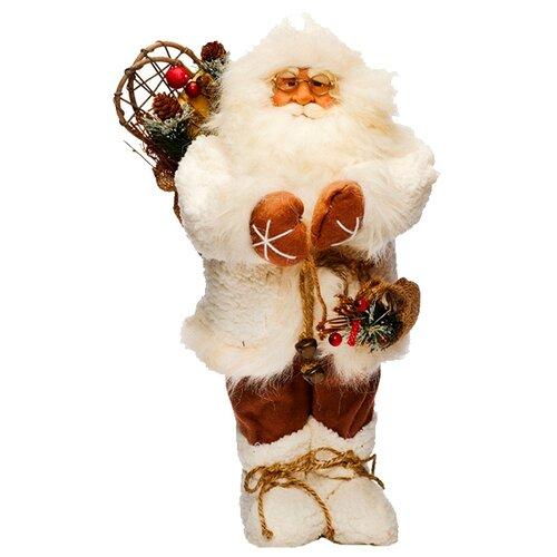 Фигурка Maxitoys Дед Мороз с мешком 45 см белый