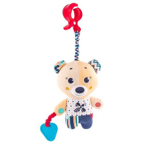 Купить Подвесная игрушка Happy Snail Мишка Берни (19HSС15BE) бежевый/синий/красный, Подвески